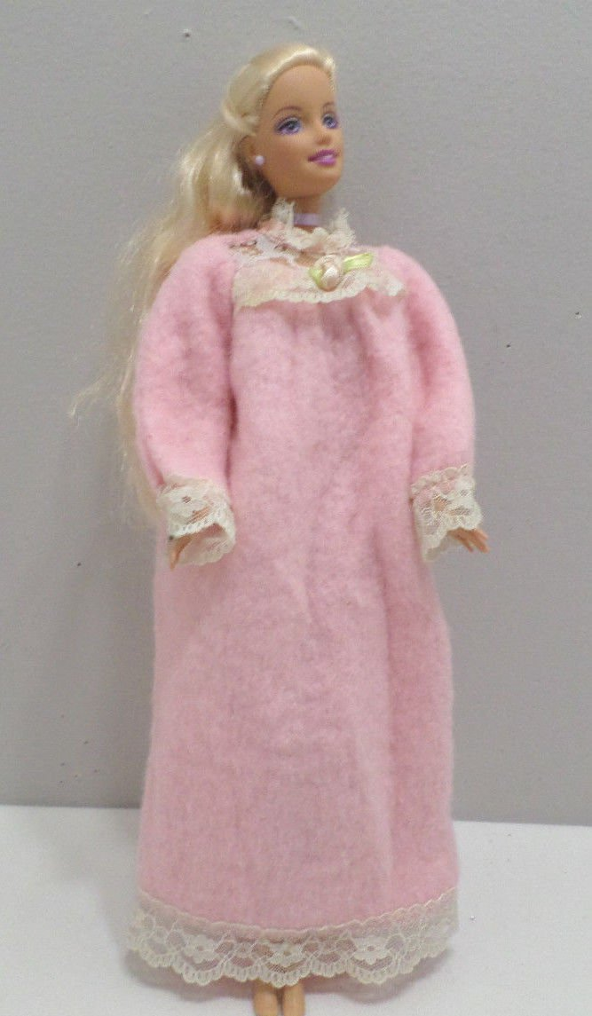 Barbie Doll Pink Soft Fuzzy Night Gown