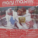 Needlepoint Kit Christmas Village General Store Musical Mary Maxim New