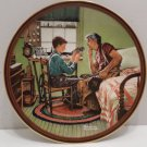 1989 Collector Plate The Inventor and the Judge by Norman Rockwell