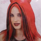 Halloween Costume Red and Black Devil Wig  Adult One Size Fits Most