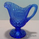 Avon Pitcher Mount Vernon Fostoria Blue Glass made in the USA