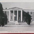 WWII Real Photo Postcard Post HeadQuarters Fort Dix NJ