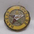 Vintage 25 Year Membership Pin Masonic Kansas OES Order of Eastern Star