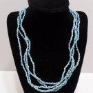 Necklace 4 Strands of Turquoise Color Beads