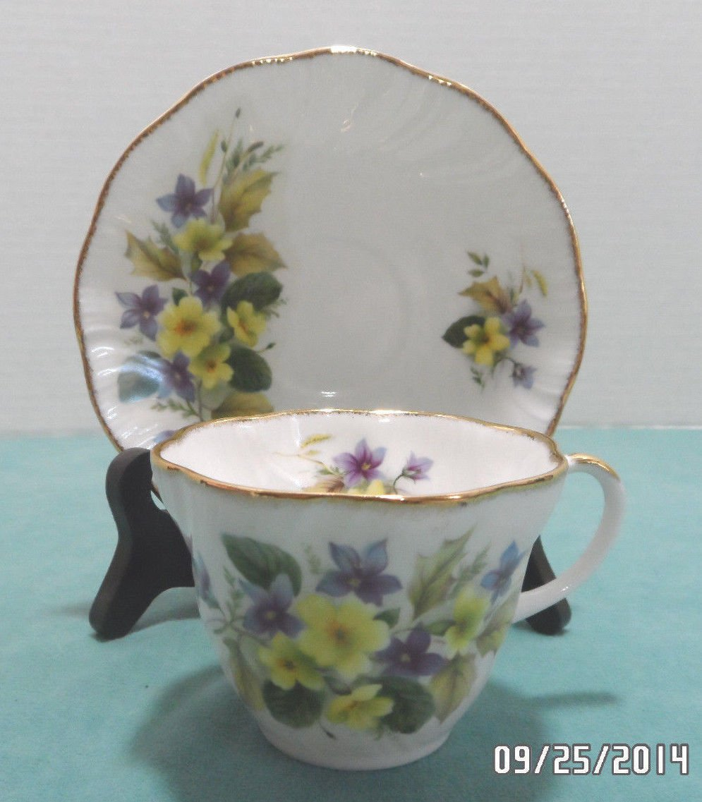 Tea Cup and Saucer Bone China by Regal Heritage made in England