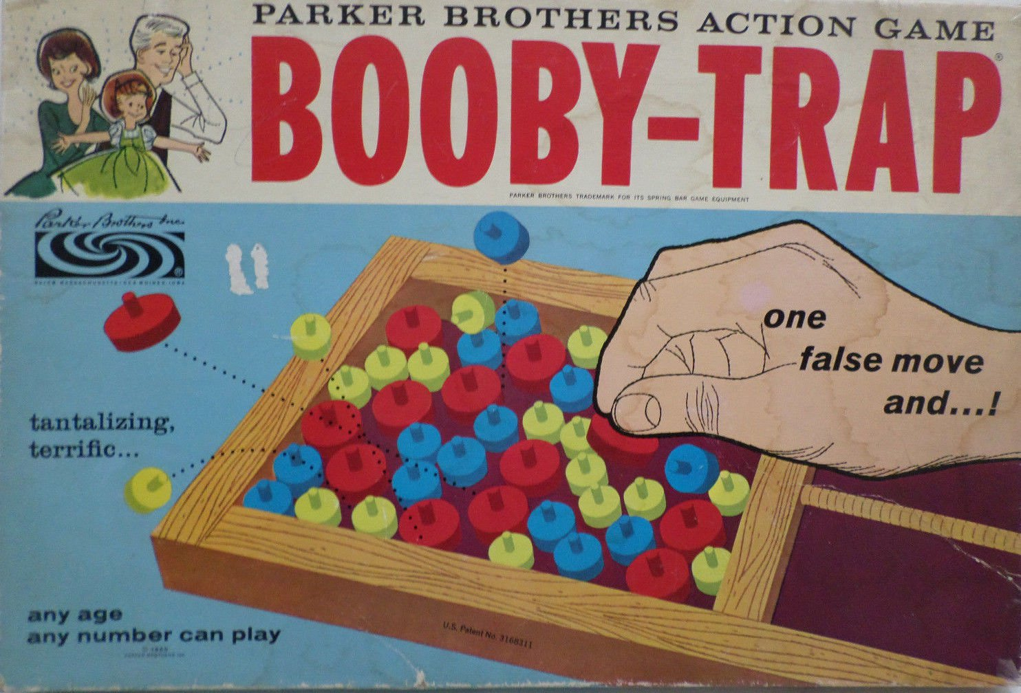 1965 Booby-Trap Action Game by Parker Brothers