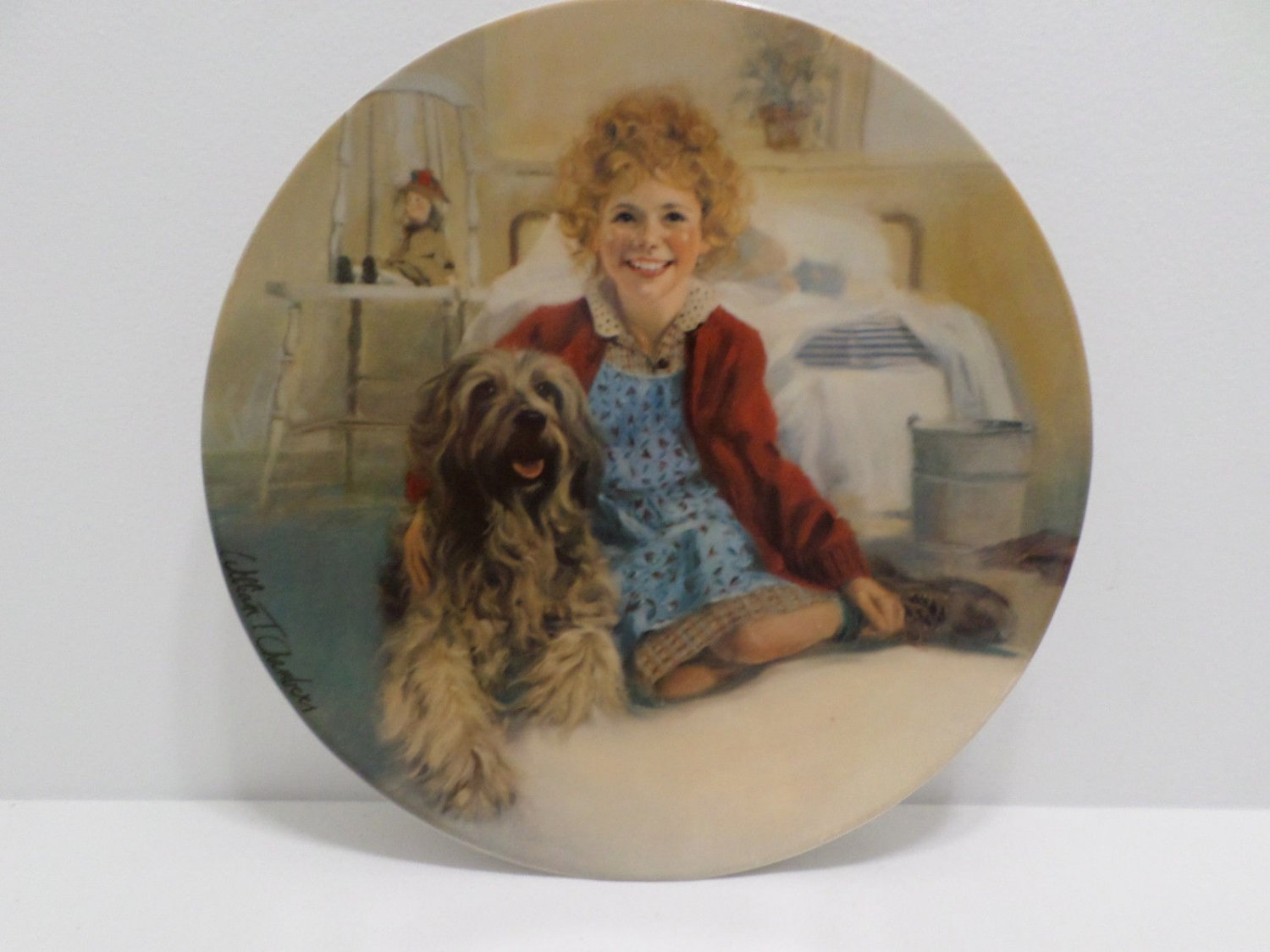 Collector Plate Annie and Sandy by William Chambers 1982e Annie Series