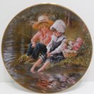 Collector Plate Little Anglers by Sandra Kuck retired Danbury Mint
