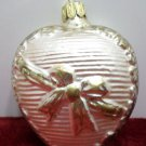 Christmas Tree Ornament Glass Heart made in Germany