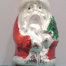 Antique Christmas Tree Ornament Mercury Glass Santa Claus holding a Tree Japan