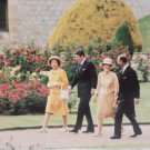 Real Photo Postcard President Reagan Nancy Queen Elizabeth II Prince Phillip