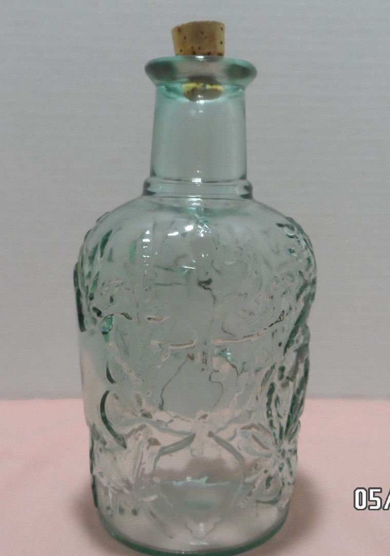 Antique Liquor Bottle Green Tinted Glass made in Canada