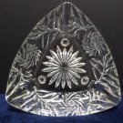 Cigarette Ashtray Clear Crystal Sitting on Three Feet