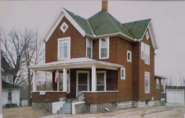 Real Photo Postcard President Reagan's Boyhood Home in Illinois