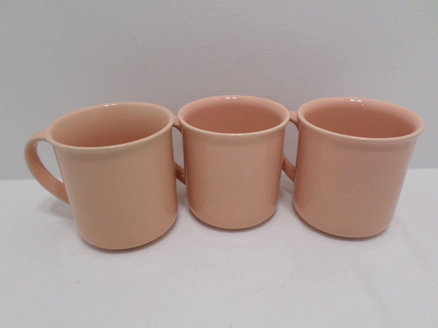 Coffee Mugs Pink Stoneware made in Japan Lot of 3