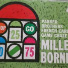 Mille Bornes French Card Game by Parker Brothers 1962 Vintage in Original Box
