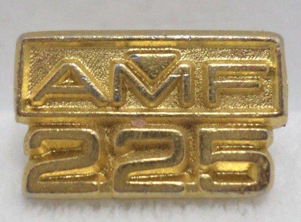 Lapel Pin A.M.F. 225 Car Racing Gold Tone Metal