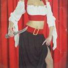 Halloween Costume Pirate Girl Adult Womens size Medium by Cinema Secrets