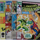 Spider-man 1984 #92, 1987 #124, 1992 #367, 1994 #16 Marvel Comics Comic Books