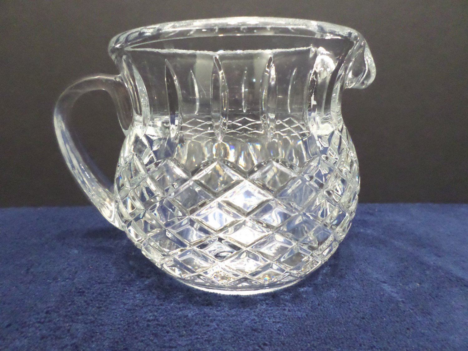 Water Pitcher Heavy Lead Crystal Small