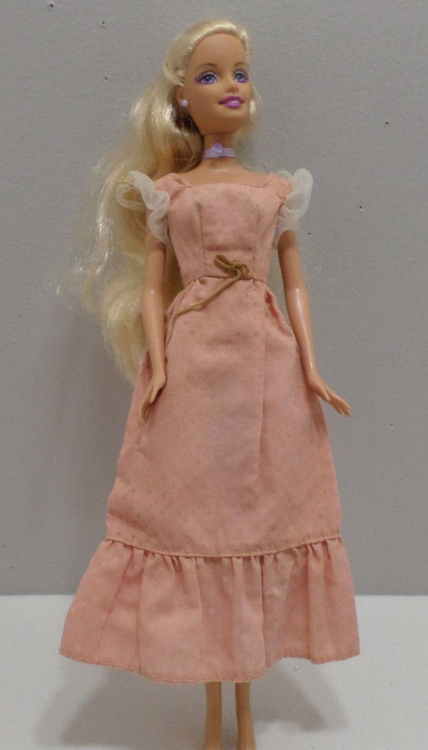Barbie Doll Dress with off white capped sleeves