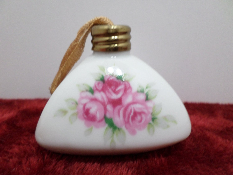 Vintage Porcelain Sachet Made in Japan Pink Rose Floral Design