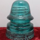 Antique Turquoise Glass Insulator Patent MAY 2, 1893 Petticoat by H.G. Company