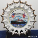 Collector Plate Queen Mary Ship made in Japan Nautical Ocean Liner