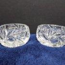 Vintage Open Salts Crystal 2 pcs