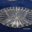 Vintage Vanity Tray Heavy Crystal has Five Sections