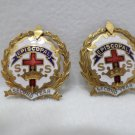 Vintage Episcopal Second Year Pins Little Cross in Crown System