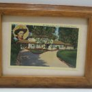 Antique Postcard Home of Gene Autry North Hollywood California in Wood Frame