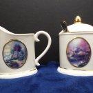 Sugar and Creamer Thomas Kinkade Porcelain Avon