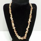 Womens Necklace Natural Stone Earth Tones 19""