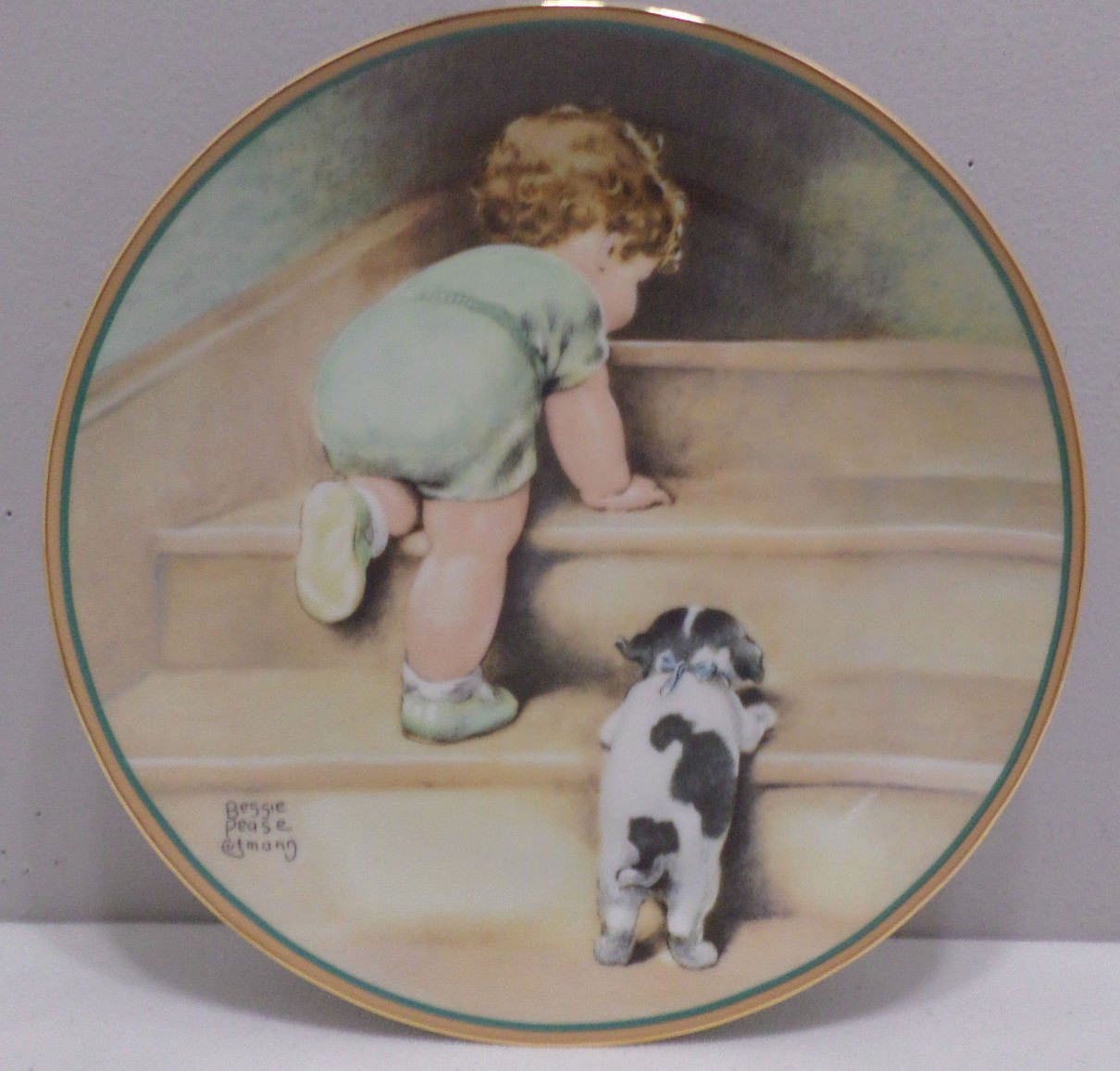 1986 Collector Plate On The Up and Up by Bessie Pease Gutmann #1482B