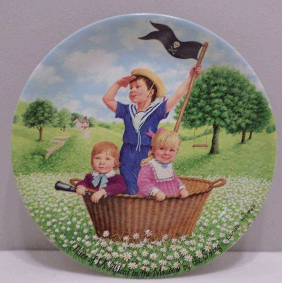 1986 Collector Plate Pirate Story by Linda Warrall Davenport Pottery Co. LTD