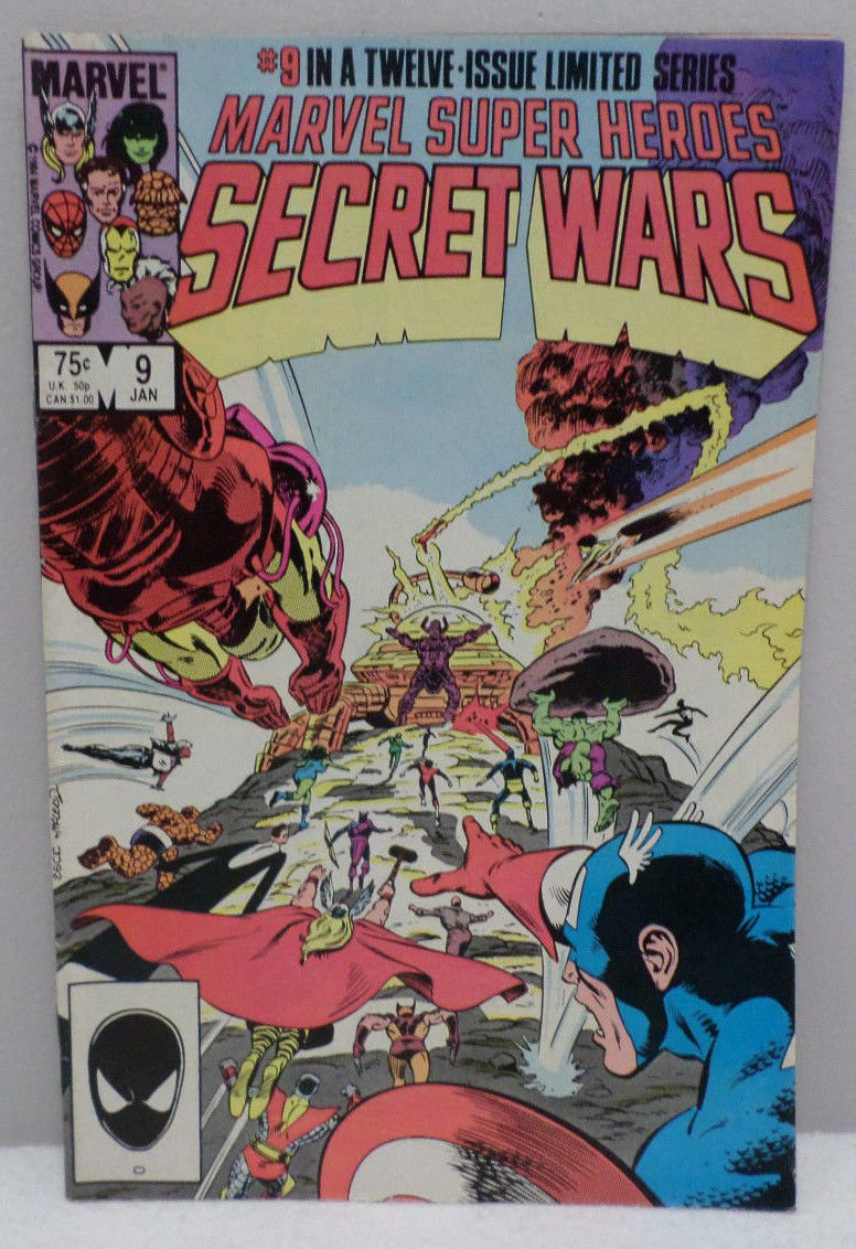 Secret Wars # 9 January 1985 Super Heroes Comic Book Marvel Comics
