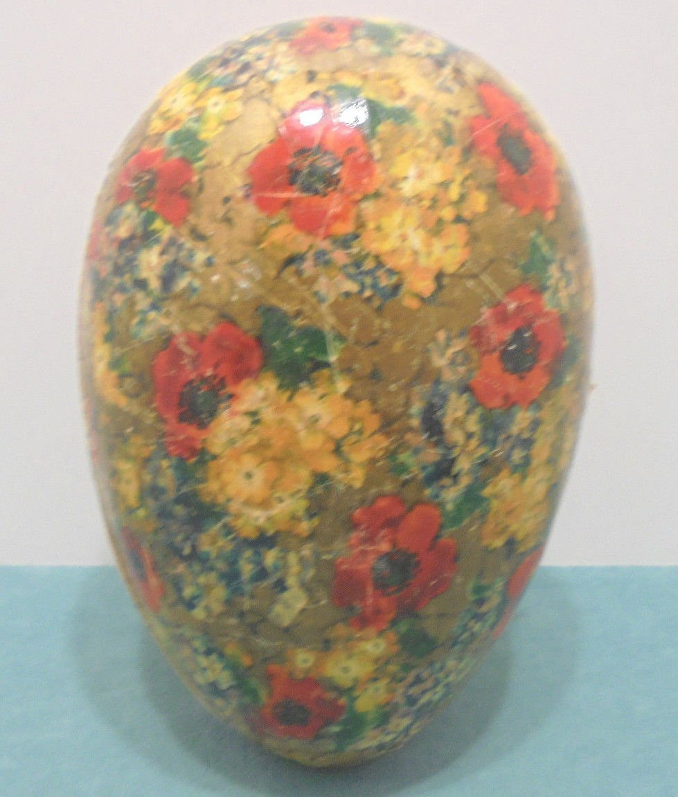Rare Large Antique Paper Mache Easter Egg Candy Container Germany