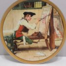 1988 Collector Plate Sign of the Times by Norman Rockwell Bradford Exchange