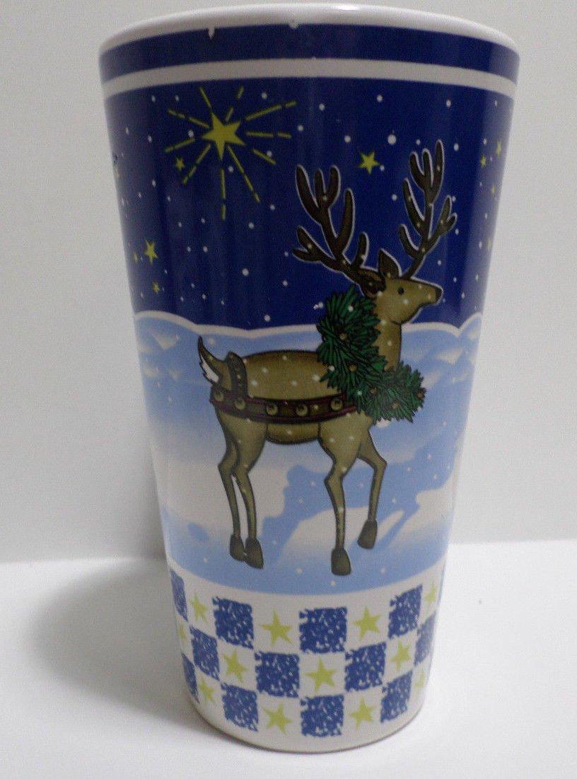 """Collector Coffee Mug Cup Large Christmas Reindeer 6"""" Tall"""