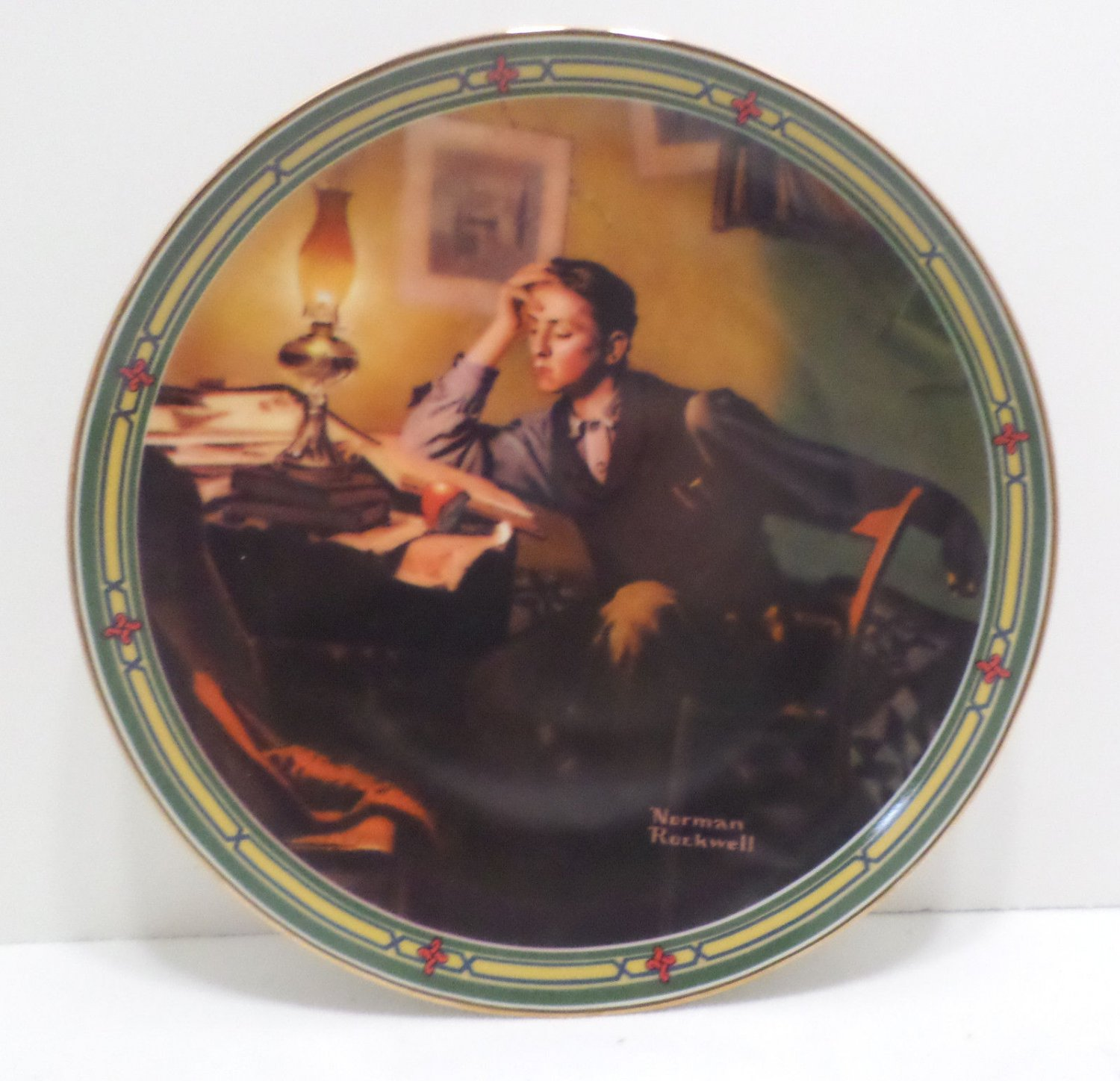 1986 Collector Plate A Young Man's Dream by Norman Rockwell #199J