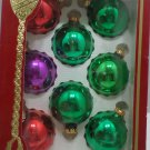 Christmas Ornaments 8 Vintage Glass Bulbs Assorted Colors Victoria Collection
