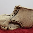 Old Shoe Figurine Tan Porcelain