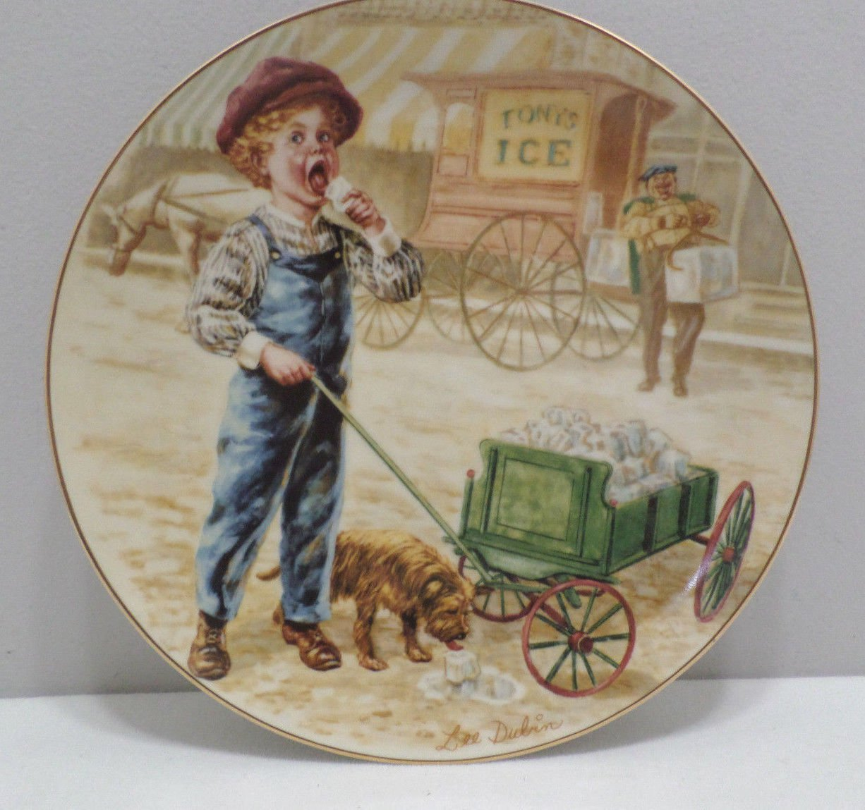 """1985 Collector Plate """"Coolin Off"""" by Lee Dubin by The Royal Wickford Porcelain"""