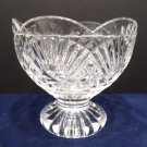 Candle Holder Heavy Lead Crystal with Scalloped Rim