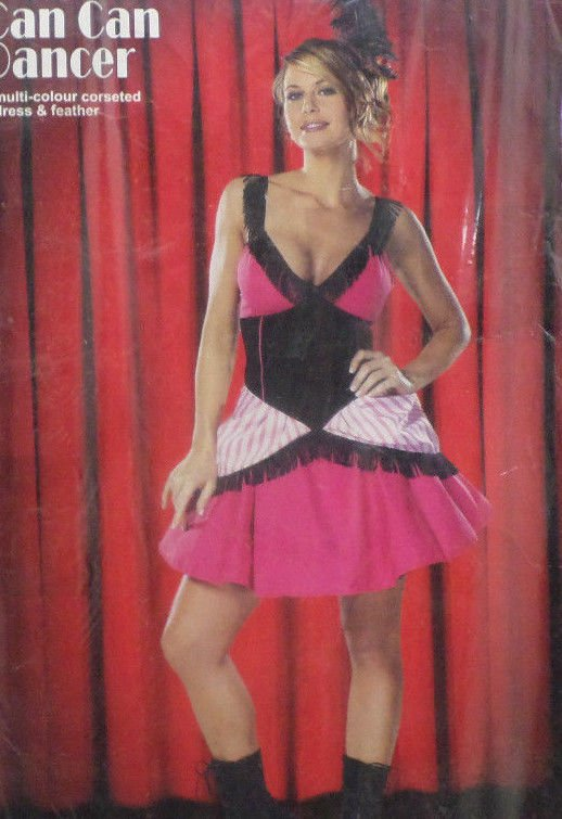 Halloween Costume Can Can Dancer Adult Womens Size Small by Cinema Secrets