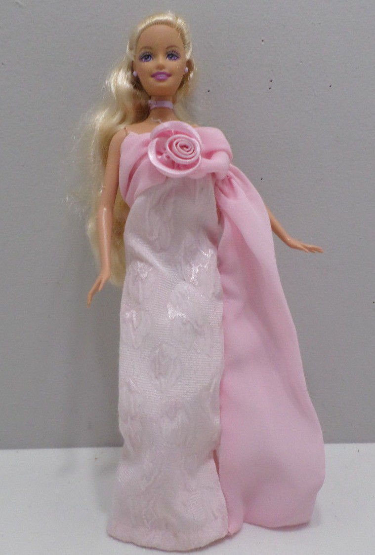 Barbie Doll Evening Dress Pink with Flower