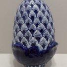 Vintage Figurine Blue and White Porcelain Acorn