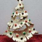 Gerrys Christmas Tree Brooch Gold Tone Metal
