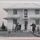 WWII Real Photo Postcard of a Barracks Clean Up Reception Center Fort Dix NJ